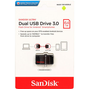Флеш-диск Sandisk 64GB USB 3.0 Ultra Dual (SDDD2-064G-GAM46) techno vocational skills acquisition and poverty reduction strategies