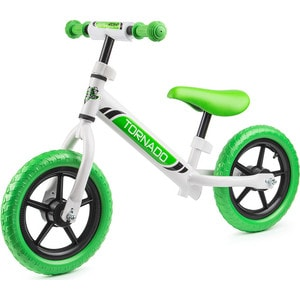 Small Rider Детский беговел Tornado, бело-зеленый (1244231/цв 1244239) small rider детский трехколесный велосипед voyager желтый 1224957 цв 1269025