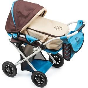 Мое детство Кукольная коляска-трансформер, бежево-голубой (1216967/цв 1222949)