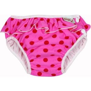 ImseVimse Трусики для купания, pink dots frill (3180425)