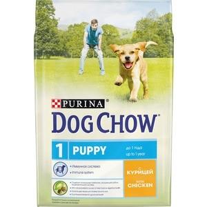 Сухой корм DOG CHOW Puppy with Chicken с курицей для щенков 2,5кг (12308785)