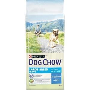 Сухой корм DOG CHOW Puppy Large Breed with Turkey с индейкой для щенков крупных пород 14кг (12308573) pro pac dog large breed