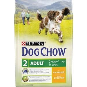 Сухой корм DOG CHOW Adult with Chicken с курицей для взрослых собак 2,5кг (12308786) футболка классическая printio gta 5 dog