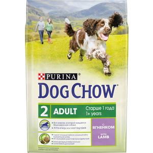 Сухой корм DOG CHOW Adult with Lamb с ягненком для взрослых собак 2,5кг (12308783) сухой корм happy dog mini adult 1 10kg neuseeland lamb