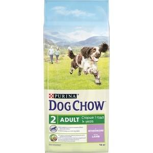 Сухой корм DOG CHOW Adult with Lamb с ягненком для взрослых собак 14кг (12308572) сухой корм happy dog supreme sensible adult 11kg neuseeland lamb