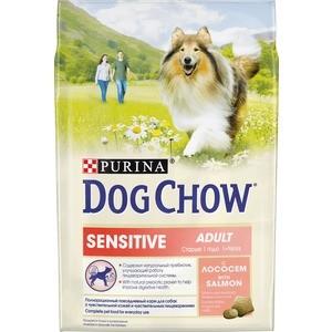 Сухой корм DOG CHOW Adult Sensitive with Salmon с лососем для взрослых собак с чувствительным пищеварением 2,5кг (12308768) футболка классическая printio gta 5 dog