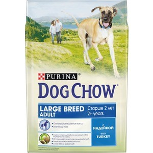 Сухой корм DOG CHOW Adult Large Breed with Turkey с индейкой для собак крупных пород старше 2-х лет 2,5кг (12308767) made in china vibrating weight loss machine belly fat reducing belt body shaper waist tummy slimming oval swinging movements