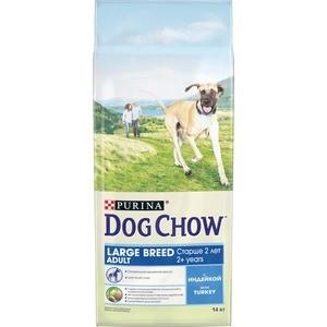 Сухой корм DOG CHOW Adult Large Breed with Turkey с индейкой для собак крупных пород старше 2-х лет 14кг (12308568) pro pac dog large breed