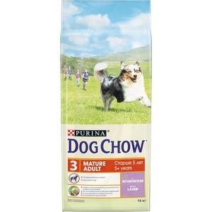 Сухой корм DOG CHOW Adult Mature 5+ with Lamb с ягненком для собак в возрасте 5-9 лет 14кг (12308570) сухой корм happy dog mini adult 1 10kg neuseeland lamb