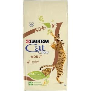 Сухой корм CAT CHOW Adult with Duck с уткой для взрослых кошек 15кг (12309193)
