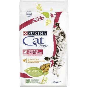 Сухой корм CAT CHOW Adult Urinary Tract Health rich in Poultry с домашней птицей для здоровья мочевыделительной системы для кошек 1,5кг (12123731) корм сухой для котят cat chow kitten с домашней птицей 400 г