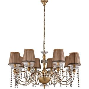 Подвесная люстра Crystal Lux Alegria SP8 Gold-Brown crystal lux бра crystal lux alegria ap2 silver brown
