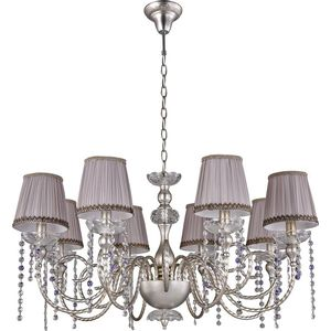 Подвесная люстра Crystal Lux Alegria SP8 Silver-Brown crystal lux бра crystal lux alegria ap2 silver brown