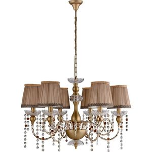 Подвесная люстра Crystal Lux Alegria SP6 Gold-Brown crystal lux бра crystal lux alegria ap2 silver brown