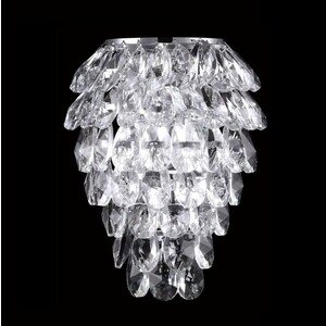 Настенный светильник Crystal Lux Charme AP2+2 LED Chrome/Transparent бра crystal lux solaris ap2 chrome