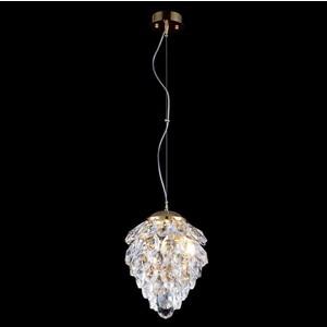 все цены на Подвесной светильник Crystal Lux Charme SP1+1 Led Gold/Transparent онлайн