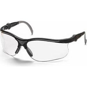 Очки защитные Husqvarna Clear X прозрачные линзы с защитой от царапин (5449637-01) hаушники защитные с прозрачной маской из плексигласа