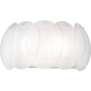 Настенный светильник Ideal Lux Ovalino AP2 Bianco ideal lux настенный светильник ideal lux clip ap2 mini bianco