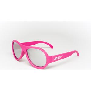 Babiators С/з очки Aces Aviator. Попсовый розовый (Popstar Pink). Зеркальные линзы (6+). Арт. ACE-005 детские солнцезащитные очки babiators aces navigators чёрный спецназ black ops синие линзы 6