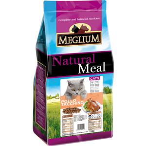 Сухой корм MEGLIUM Natural Meal Cat Adult Chicken & Turkey с курицей и индейкой для взрослых кошек 15кг (MGS0315) сухой корм meglium natural meal cat adult beef с говядиной для взрослых кошек 3кг mgs0503