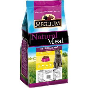 Сухой корм MEGLIUM Natural Meal Cat Adult Neuterd Chicken & Fish с курицей и рыбой для стерилизованных кошек 15кг (MGS1215) coast of maine fish bone meal soil amendment budding
