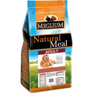 Сухой корм MEGLIUM Natural Meal Dog Adult для взрослых собак 15кг (MS0115)  meglium natural meal dog adult для взрослых собак 15кг ms0115