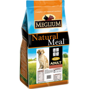 Сухой корм MEGLIUM Natural Meal Dog Adult Gold для взрослых собак 15кг (MS1315)  meglium natural meal dog adult для взрослых собак 15кг ms0115