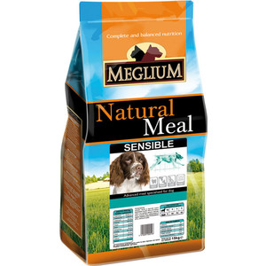 Сухой корм MEGLIUM Natural Meal Dog Adult Sensible Breeders Lamb & Rice для взрослых собак с чувствительным пищеварением 20кг (MS1920) сухой корм happy dog supreme sensible adult 11kg neuseeland lamb
