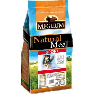 Сухой корм MEGLIUM Natural Meal Dog Adult Sport для активных собак 15кг (MS0215)  meglium natural meal dog adult для взрослых собак 15кг ms0115