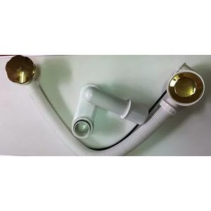 Слив-перелив AlcaPlast для ванны 80 cм золото (A55K Zlato-80) alca plast a55k 100