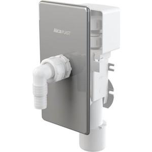 Сифон AlcaPlast для стиральной машины для сбора конденсата под штукатурку хром (APS3P) цена