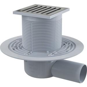 Душевой трап AlcaPlast 105х105/50, подводка боковая гидрозатвор мокрый (APV103) душевой трап pestan square 3 150 мм 13000007
