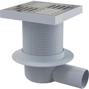 Душевой трап AlcaPlast 150х150/50 подводка боковая гидрозатвор мокрый (APV5411)  трап прямой пластиковый 150х150 50 мм гидрозатвор haco