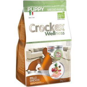 Сухой корм Crockex Wellness Pappy Medio-Maxi Chicken Meat & Vegetables & Fructs с курицей и рисом для щенков средних и крупных пород12кг (MCF3312) цены онлайн