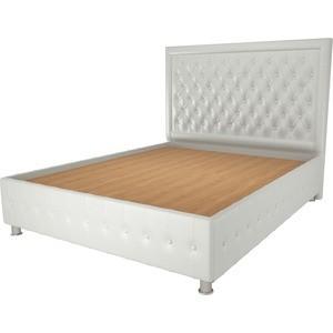 Кровать OrthoSleep Сицилия жесткое основание белый 200х200