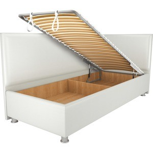 Кровать OrthoSleep Бибионе Лайт механизм и ящик белый 90х200