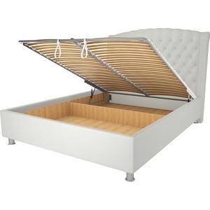 Кровать OrthoSleep Модена механизм и ящик белый 80х200  цена и фото