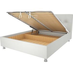Кровать OrthoSleep Примавера уно механизм и ящик белый 140х200