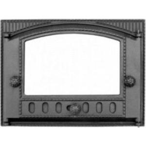 Дверца каминная Балезино ДТ-2С со стеклом дверка каминная дтк со стеклом