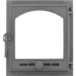 Дверка Рубцовск ДТГ-8АС Онего крашенная со стеклом дверка каминная дтк со стеклом
