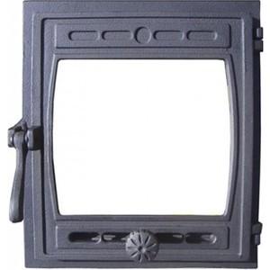 Дверка Рубцовск ДТГ-8С Кижи крашенная со стеклом дверка каминная дтк со стеклом