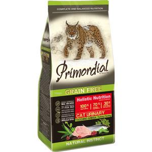 Сухой корм Primordial Grain Free Holistic Cat Urinary with Turkey & Herring беззерновой с индейкой и сельдью для кошек с МКБ 2кг (MGSP1402) сухой корм farmina vet life diabetic feline диета при сахарном диабете для кошек 2кг 25326