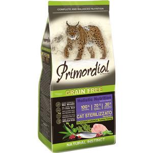 Сухой корм Primordial Grain Free Holistic Cat Neutered with Turkey & Herring беззерновой с индейкой и сельдью для стерилизованных кошек 2кг (MGSP1302) сухой корм farmina vet life diabetic feline диета при сахарном диабете для кошек 2кг 25326