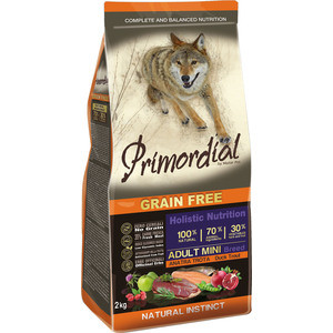 Сухой корм Primordial Grain Free Holistic Dog Adult Mini Breed with Duck & Trout беззерновой с уткой и форелью для собак мелких пород 2кг (MSP5102) mini gsm gps tracker for kids elderly personal sos button track with two way communication free platform app alarm
