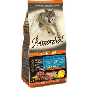 Сухой корм Primordial Grain Free Holistic Dog Adult All Breed with Duck & Trout беззерновой с уткой и форелью для собак всех пород 2кг (MSP5402) colorful print wallet book card slot business cover stand pu leather case for samsung galaxy tab 4 10 1 t530 t531 t535 tablet