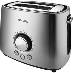 Тостер Gorenje T1000E серебристый/черный тостер gorenje t1000e серебристый черный