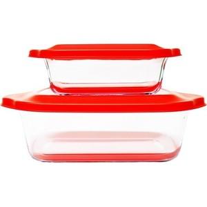 Набор стеклянных форм для запекания Frybest Glass ovenware (2p set Red) frybest orange003 чеснокодавилка