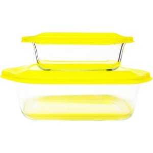 Набор стеклянных форм для запекания Frybest Glass ovenware (2p set Yellow) abs cradle head accessory parts set for fpv yellow