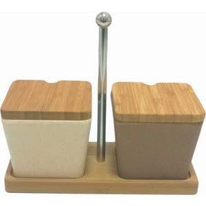 Набор для специй сервировочный из бамбука 2 предмета Frybest Bamboo (BM-05-3) масленка frybest bamboo цвет коричневый bm 02 1