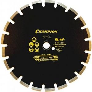 Диск алмазный Champion асфальт PRO 600/25,4/10/4,7 Asphafight (C1626)  диск алмазный champion асфальт st 400 25 4 10 asphafight
